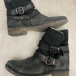 Aldo leather and suede booties